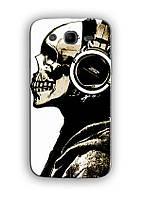 Чехол для Samsung Galaxy Mega 5.8 I9152 (череп в наушниках)