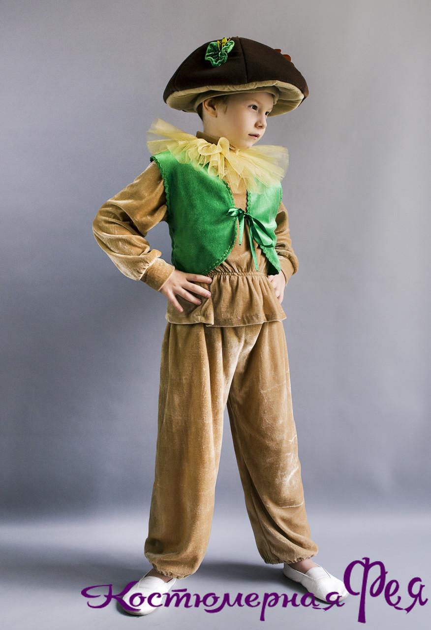 Грибок, гриб Боровик, Белый гриб, карнавальный костюм для мальчика (код 90/12)