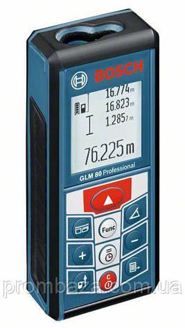 Лазерный дальномер Bosch GLM 80, фото 2