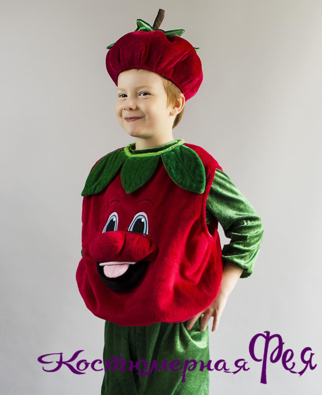 Помидор, помидорчик, карнавальный костюм для мальчика (код 84/4)