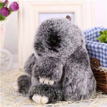 Оригинальный Сувенир Меховой Кролик Брелок на Сумку Зайчик