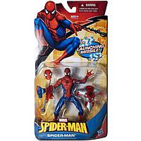 Фигурка Человек-Паук cо съемным костюмом и маской 12СМ  - Spider-man/Launching Missile/Hasbro