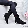 Ботинки женские Olla черные 5590, ботинки женские