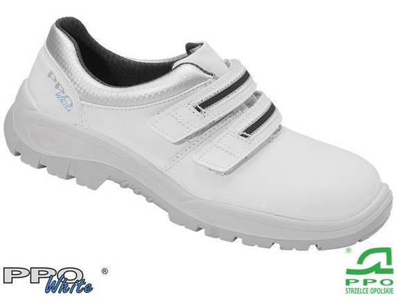 Защитная рабочая мужская обувь с металлическим подноском BPPOP202 WHI, фото 2