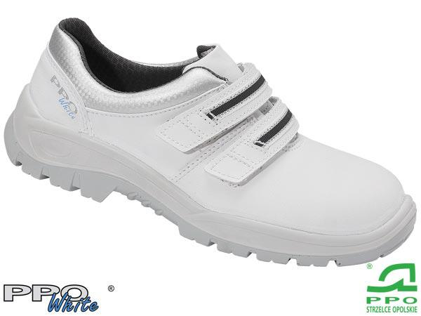 Защитная рабочая мужская обувь с металлическим подноском BPPOP202 WHI