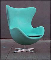 Дизайнерское кресло Эгг Egg chair голубой кашемир, бесплатная доставка