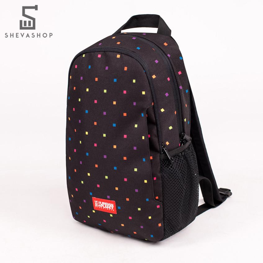 Рюкзак UP B11 POLKA COLOR черный