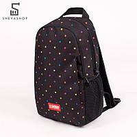 Рюкзак UP B11 POLKA COLOR черный, фото 1