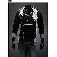 Мужская толстовка утепленная черная, фото 1
