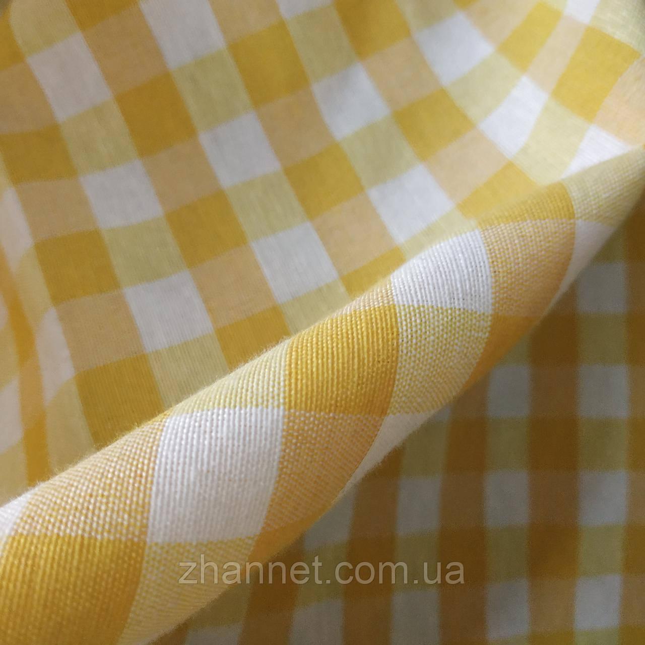 Ткань в клетку Emma желтый 280 см (556601)
