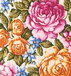 Весеннее цветение в лоскуте 1379-1-, павлопосадский платок (лоскут) шерстяной (с просновками) с оверлок (подрубка) БЕЗ БАХРОМЫ, фото 2