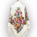 Весеннее цветение в лоскуте 1379-1-, павлопосадский платок (лоскут) шерстяной (с просновками) с оверлок (подрубка) БЕЗ БАХРОМЫ, фото 3