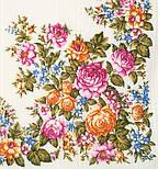 Весеннее цветение в лоскуте 1379-1-, павлопосадский платок (лоскут) шерстяной (с просновками) с оверлок (подрубка) БЕЗ БАХРОМЫ, фото 4