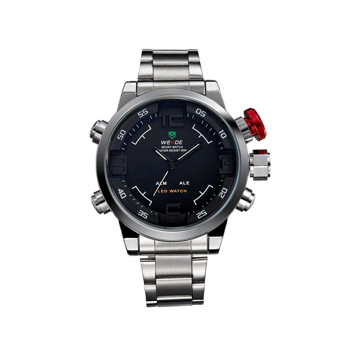 Часы Weide Black WH2309-1C SS (WH2309-1C) — в Категории