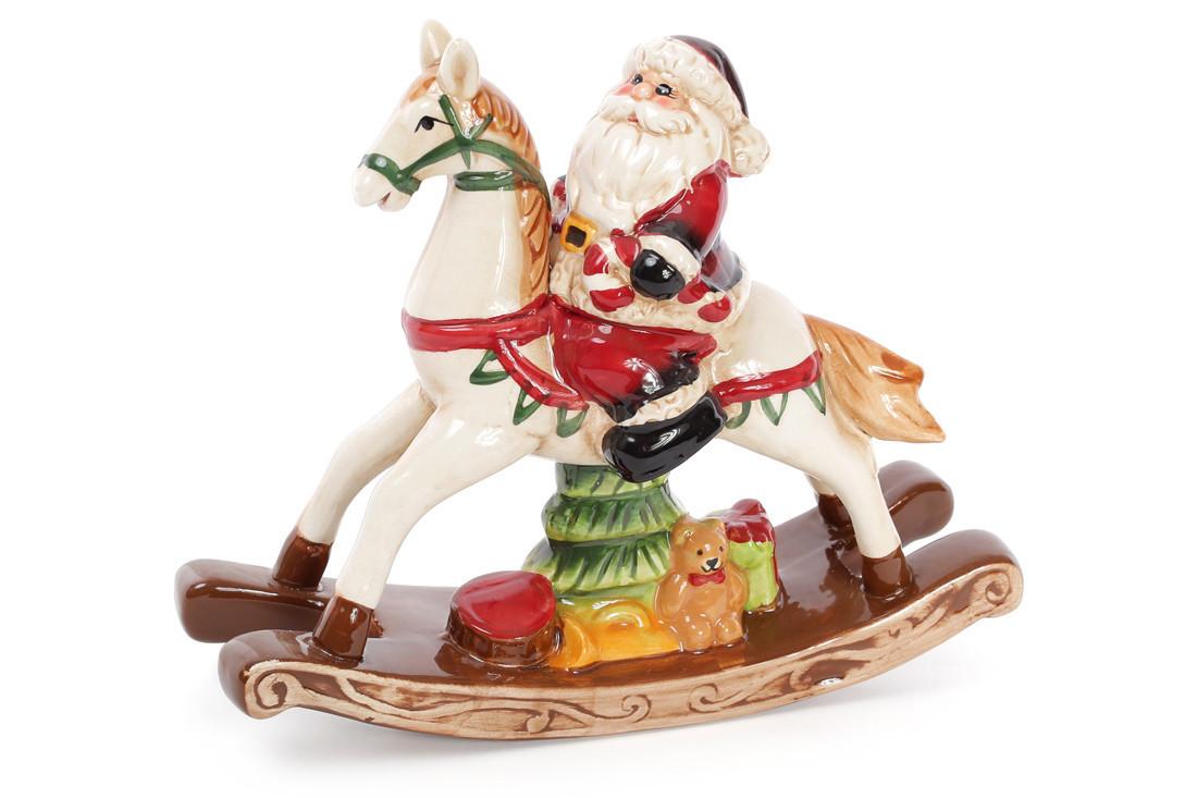 Декоративная статуэтка Санта на лошади, 23см 827-420