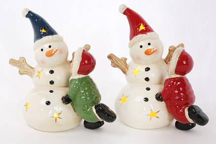 Декоративная фигурка Снеговик с деткой, 2 вида, 14см (827-428), фото 2