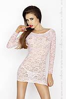 Прозрачная сорочка с длинным рукавом YOLANDA CHEMISE pink XXL/XXXL - Passion, трусики, фото 1