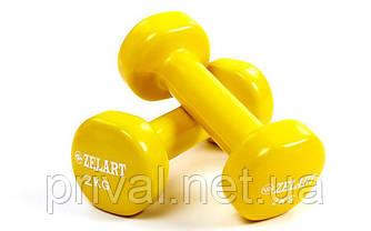 Гантели для фитнеса 2кг TA-5225-2