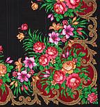Осеннее танго в лоскуте 1538-18-, павлопосадский платок (лоскут) шерстяной (с просновками) с оверлок (подрубка) БЕЗ БАХРОМЫ, фото 2