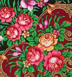 Осеннее танго в лоскуте 1538-18-, павлопосадский платок (лоскут) шерстяной (с просновками) с оверлок (подрубка) БЕЗ БАХРОМЫ, фото 3