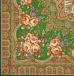 Таинственная муза в лоскуте 1461-10-, павлопосадский платок (лоскут) шерстяной с оверлок (подрубка) БЕЗ БАХРОМЫ, фото 2