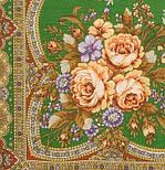 Таинственная муза в лоскуте 1461-10-, павлопосадский платок (лоскут) шерстяной с оверлок (подрубка) БЕЗ БАХРОМЫ, фото 3