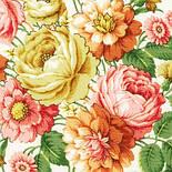 Малиновка в лоскуте 1346-3-, павлопосадский платок (лоскут) шерстяной с оверлок (подрубка) БЕЗ БАХРОМЫ, фото 3