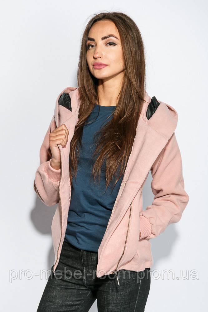 da8b8eac2423 Куртка женская мягкая, демисезонная 678K002 (Персиковый) - Интернет магазин