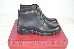 Ботинки женские демисезонные Bliss 81303 чёрные кожа низкий ход
