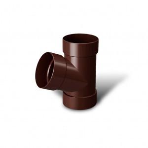 Тройник трубы 67* коричневый 100 мм