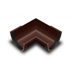 Угол желоба наружный  90* коричневый 130