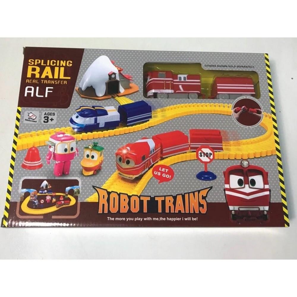 Роботы поезда, поезд трансформер 828-10