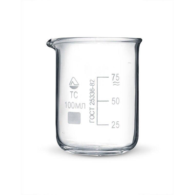 Стакан мерный стеклянный 100 мл.