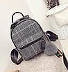 Рюкзак женский шерстяной с помпоном Серый, фото 2