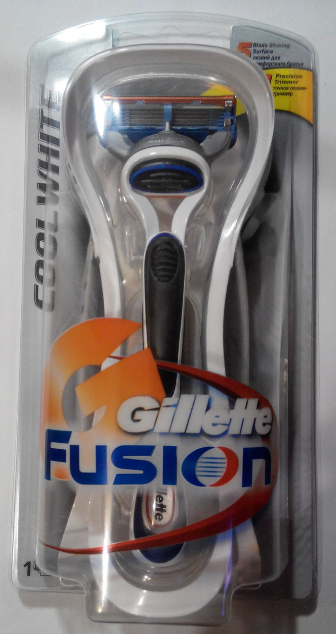 Станок для бритья Gillette Fusion Cool White (+1 картридж)