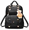 Рюкзак женский кожзам сумка Sweet Bear Черный