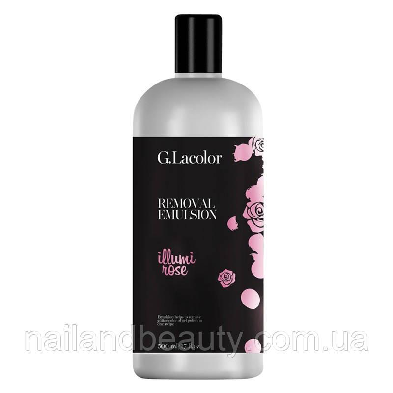 """Эмульсия для снятия гель-лака """"Remover Emulsion. Illumi Rose"""" G.Lacolor 250мл"""