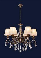Люстра в бронзовом цвете с плафонами 755MK30001-6 AB