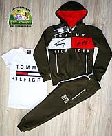 Спортивный костюм Tommy Hilfiger темно-зеленый камуфляж