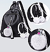 Рюкзак женский городской кожзам LAZADA с брелком, фото 2