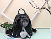 Рюкзак женский городской кожзам LAZADA с брелком, фото 3