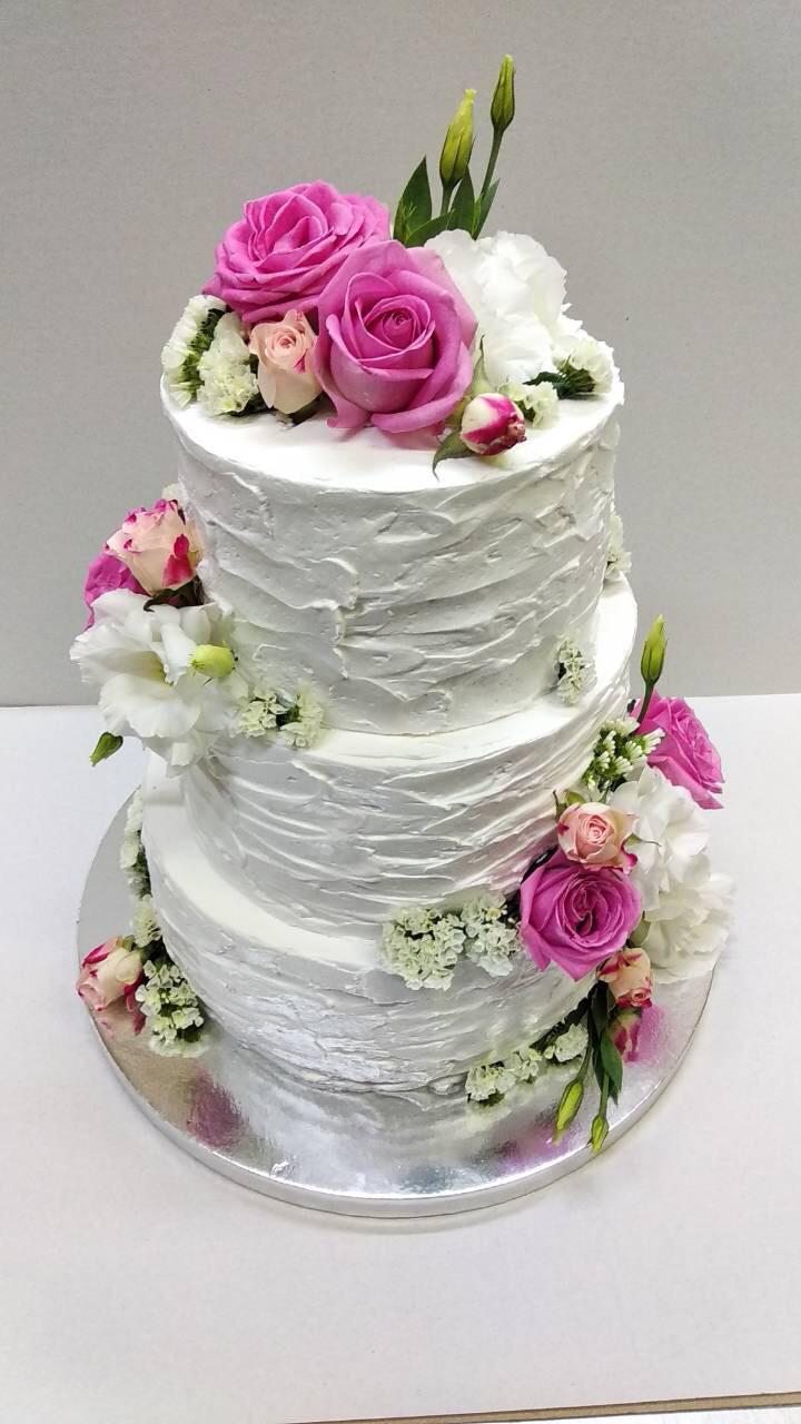 """Свадебный торт на заказ """"Живые цветы РОЗЫ"""""""