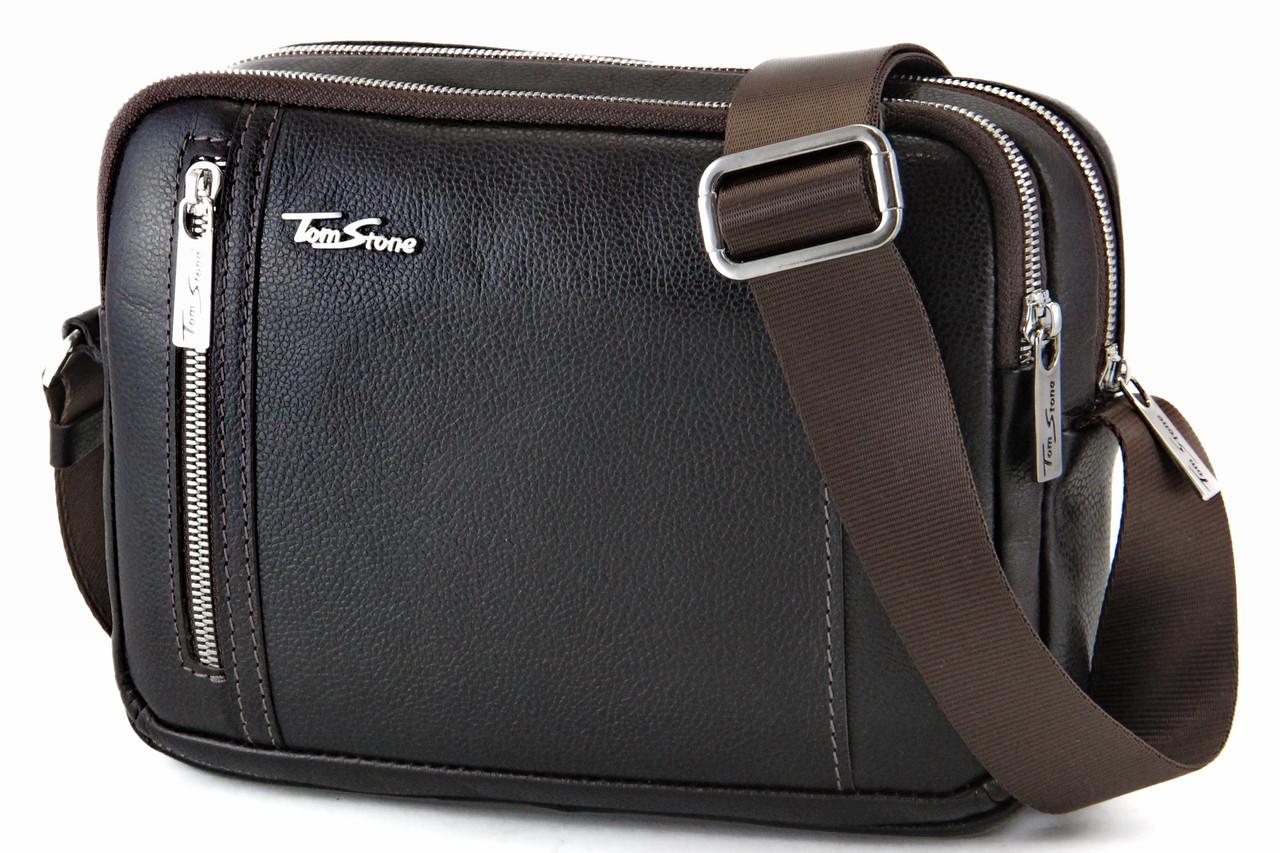 Чоловіча шкіряна сумка через плече Tom Stone