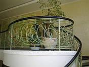 Кованые перила растительной тематики с колокольчиками, фото 3