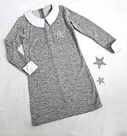 "Платье-обманка ""Инесса"", трикотаж ангора, размер 128-152, серый"