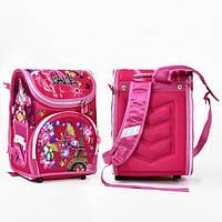 Рюкзак каркасный школьный Paris ортопедический Розовый (St2007)