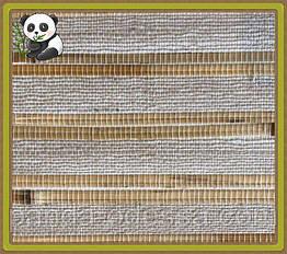 Натуральні шпалери Нитки, очерет-бамбук /світлий фон