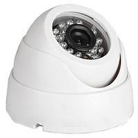 Камера купольная lux 416 ssm, охрана помещений, видеонаблюдение, цветная, аналоговая, 800 твл, ик-подсветка
