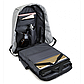 Рюкзак Bobby  Бобби Антивор с USB серый + Подарок , фото 5