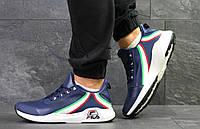 Молодежные кроссовки FILA FHT RJ-DASH, синие с белым(Реплика)